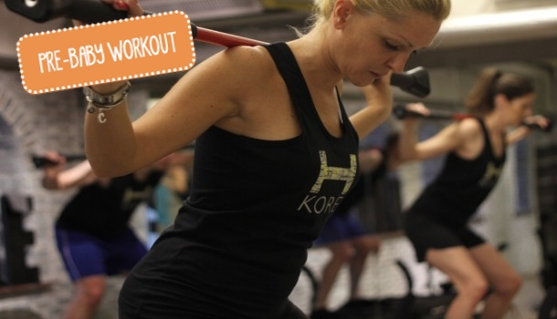 Work Out with a Baby Bump at H-Kore