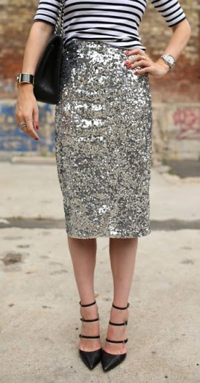 Step Out in Sequin Pencil Skirts