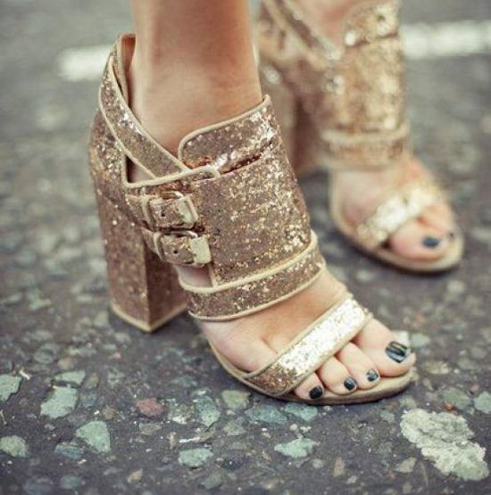 The Flaunt I Want... Metallic Sandals